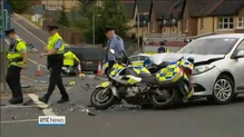 Two motorcycle gardaí injured in crash in Sligo