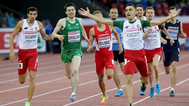 Mark English won European 800m bronze this summer