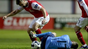 Greg Bolger saw red for a needless stamp on Colm Crowe