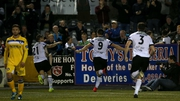 Dundalk celebrate Patrick Hoban's late winner against Limerick