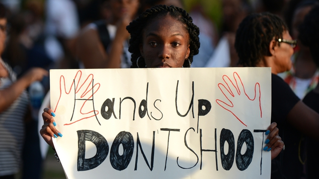 There have been protests in Missouri following the shooting dead of Michael Brown