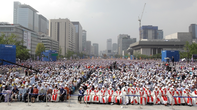 Hundreds of thousands attended the ceremony