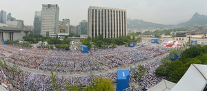 Hundreds of thousands attended Pope Francis's mass in Seoul, South Korea (Taken with wide angle lens)