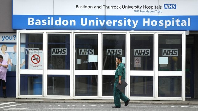 Survivors in the container were taken to Basildon University Hospital