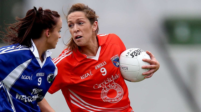 Caroline O'Hanlon (Right) star of the show for Armagh in Tullamore
