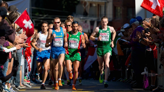 Sean Hehir was best of the Irish finishing 20th in the Zurich sunshine