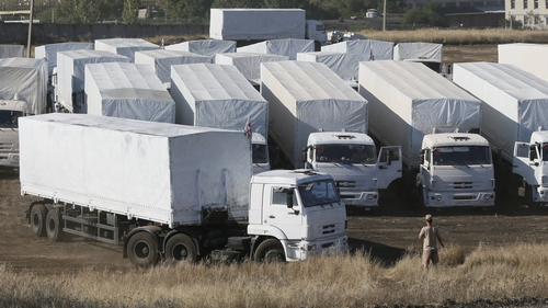 The Kremlin said yesterday that it planned to send a second aid convoy into east Ukraine this week