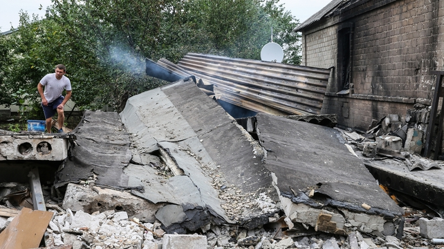 Hundreds of people have been forced from their homes by fighting in eastern Ukraine