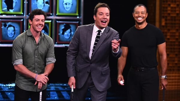 Rory McIlroy took on the dream-team of Jimmy Fallon and Tiger Woods