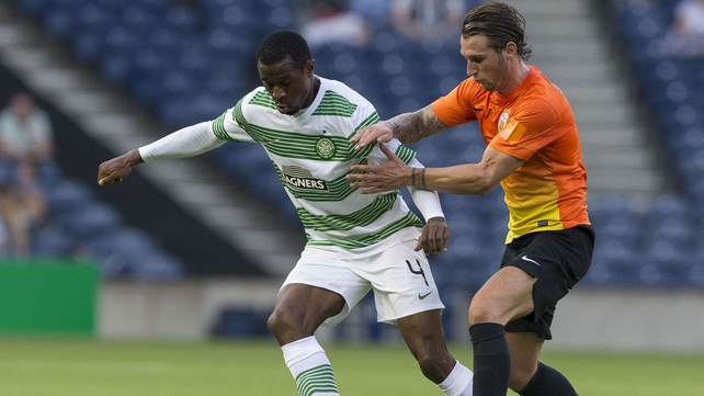 Efe Ambrose (L) has served his suspension