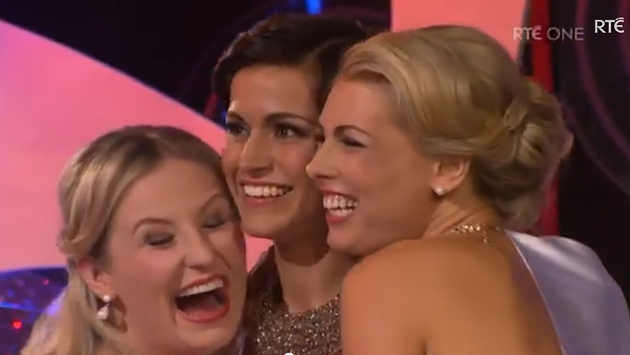 Twenty-seven-year-old Walsh (centre) became the 55th Rose of Tralee at the Festival Dome in the town on Tuesday night