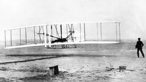 "Taking off: ""the Wright brothers' eureka moment, when they first took flight at Kittyhawk in 1903, was the result of both dedication and curiosity"""