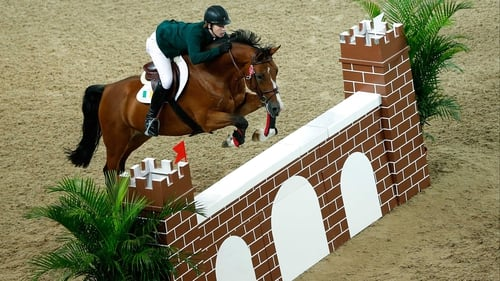 Michael Duffy and Commander in action at Xinzhuang Equestrian Venue