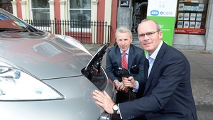 Minister Coveney will be driving the 100% electric Nissan LEAF over the coming weeks