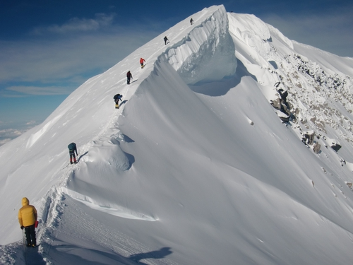 Ascending Mt. McKinley in Alaska (Photo by Niall O'Byrnes)