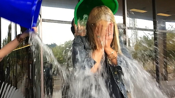 RTÉ's Sharon Ní Bheoláin participated in the ice bucket challenge