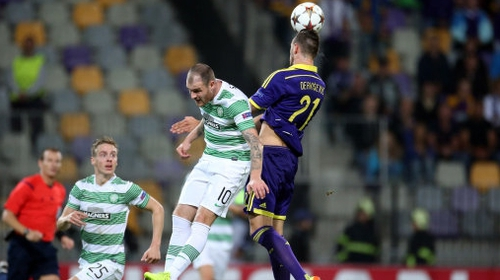 Ireland international Anthony Stokes helped Celtic to a 1-1 away draw in the first leg