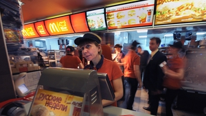 McDonald's claims its outlet on Moscow's Pushkin Square is its most frequented in the world