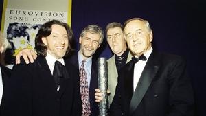 Mr Reynolds with Ireland's 1994 Eurovision winners