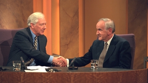 Gay Byrne welcomes Mr Reynolds to the Late Late show in 1999 (RTÉ Stills Library)