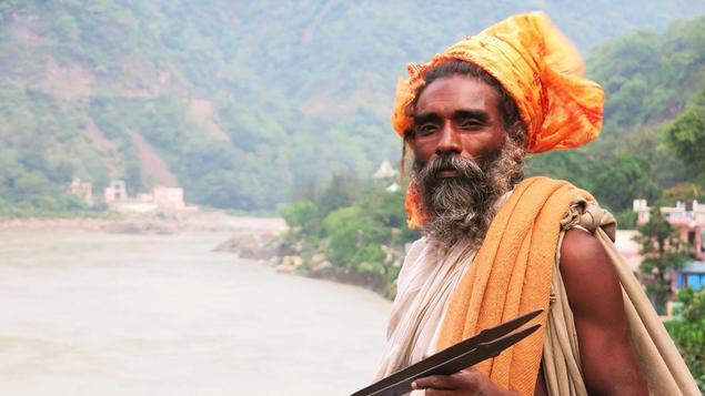 A sadu in rishikesh