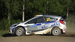 Craig Breen in action in Finland