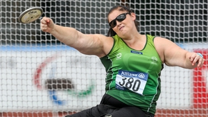 Orla Barry in action on her way to winning the silver medal