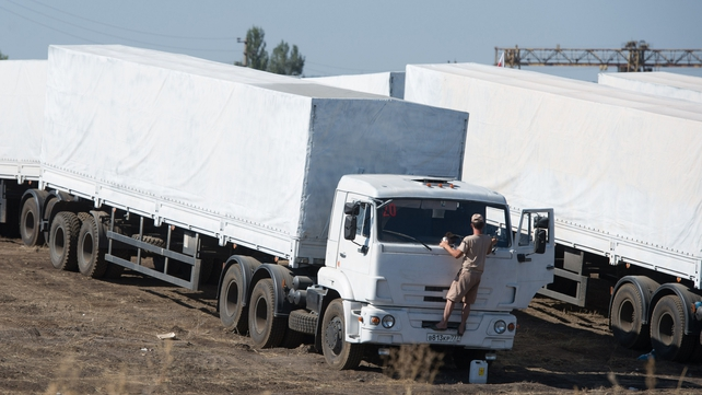 It is not clear when the trucks will be authorised to leave the rebel-held boarder