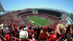 San Francisco 49ers taking on the Denver Broncos during a pre-season game at Levi's Stadium