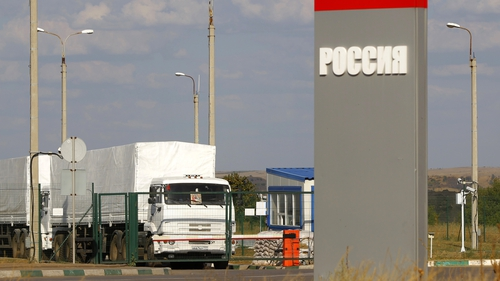 Aid convoy had been at the Russian-Ukrainian border since 14 August