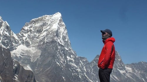 Paul acclimitising on Pumori, above Base Camp