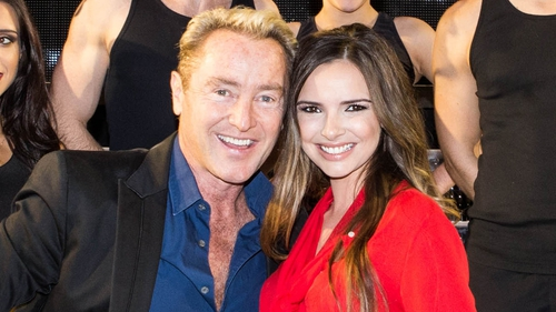 Michael Flatley and Nadine Coyle. Photo: Brian Doherty