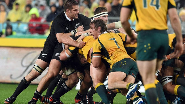 New Zealand captain Richie McCaw in action against Australia