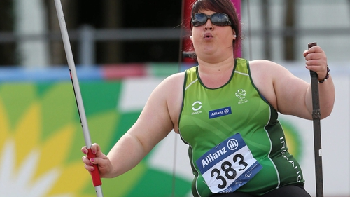 Lorraine Regan's best throw was marginally off a season's best