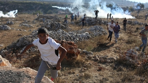 Teargas fired on Palestinian protesters