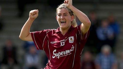 Galway's Aoibheann Daly celebrates at the final whistle