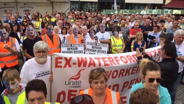 Thousands attended the march through Waterford city centre