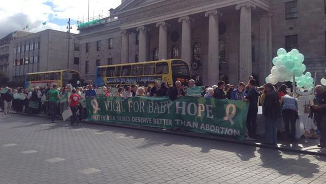 About 400 people attended a pro-life vigil in Dublin city centre