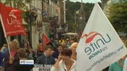 Six One News: Over 2,000 attend Waterford Crystal protest