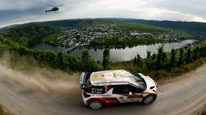 Kris Meeke and Paul Nagle compete in their Citroen Total Abu Dhabi WRT Citroen DS3 WRC during the WRC German Rally