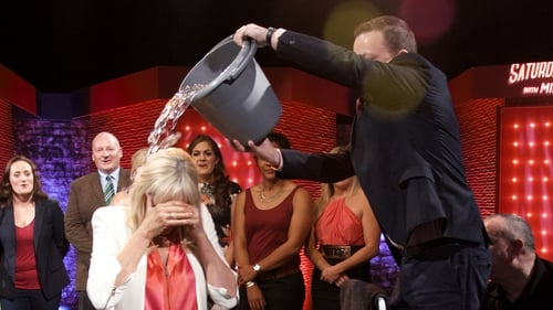She did it! Oliver Callan pictured here drenching Miriam O'Callaghan
