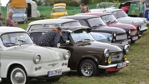 Fans of the East German Trabant car gather for their 7th annual get-together