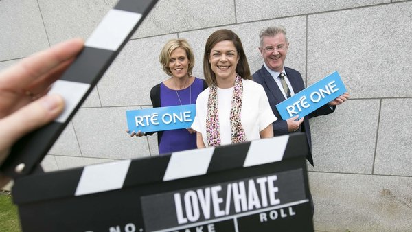 RTÉ's Geraldine O' Leary and Gerry McGuinness with Eircom's, Lisa Comerford (centre)