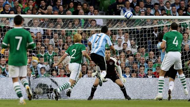 Angel Di Maria scored the winner when Ireland hosted Argentina in August 2010