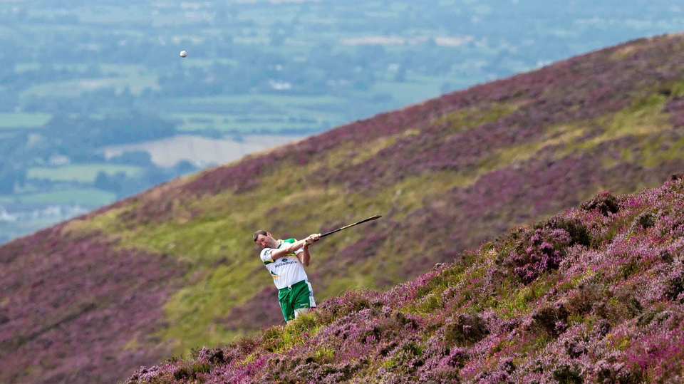 Meanwhile, on Annaverna Mountain, Co Louth, Brendan Cummins competes in the Poc Fada finals