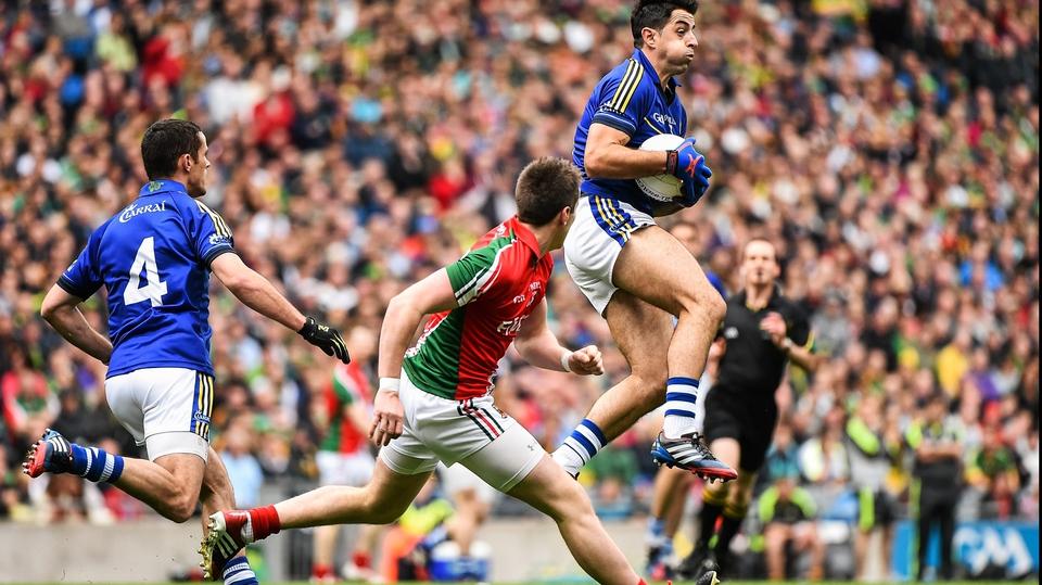 Kerry's Aidan O'Mahony takes possession against Mayo in the All-Ireland SFC semi-final at Croke Park, Dublin