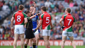 Lee Keegan saw red after kicking out at an opponent