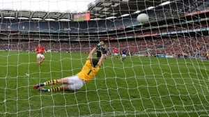 Cillian O'Connor dispatches Mayo's penalty
