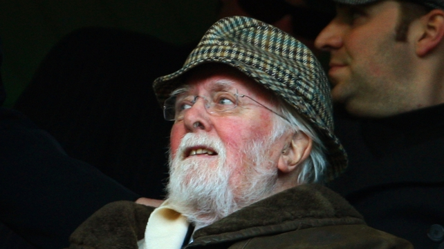 Lifelong Chelsea fan Richard Attenborough watching a match at Stamford Bridge in 2009