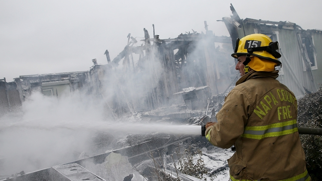 Six fires broke out, including one that consumed six mobile homes